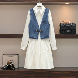 Denim Combination Dress