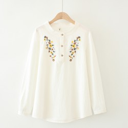 LM+ Floral Embroidered Blouse