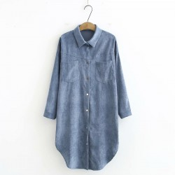 LM+ Long Corduroy Tunic