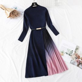 Combination Ombre Dress