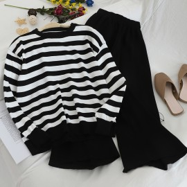 Stripe Top and Pants Set