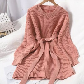 Long Knit Pullover
