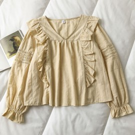 Flared Frill Blouse