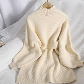 Knit  Two-Piece Pullover