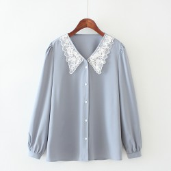 LM+ Lace Collar Blouse