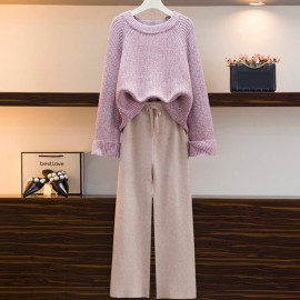 Knit Pullover and Pants Set