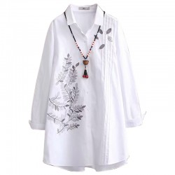 LM+ Motif Embroidered Shirt