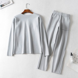 Knit Top and Pants Set