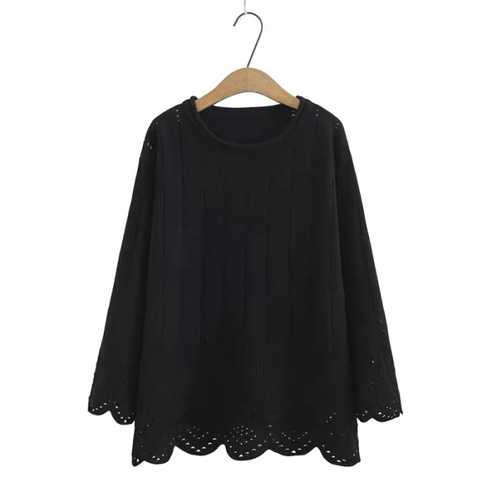 LM+ Knit Eyelet Blouse