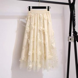 LM+ Floral Applique Skirt