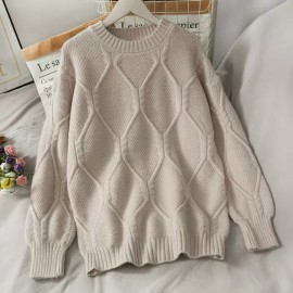 Honeycomb Knit Pullover