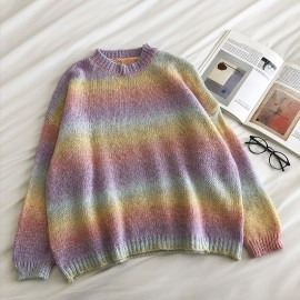 Gradient Knit Pullover