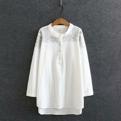 LM+ Embroidered Motif Blouse
