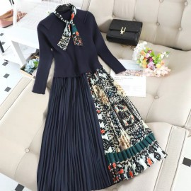 Combination Scarf Dress