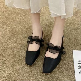 Slingback with Tulle