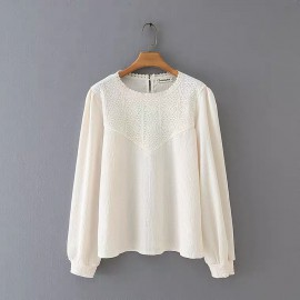 LM+ Lace Panel Blouse