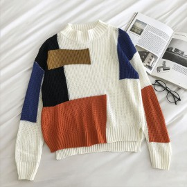 Geometric Knit Pullover