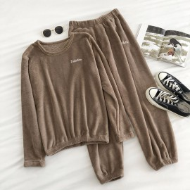 Velour Top and Pants Set