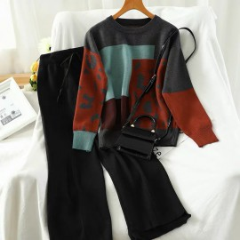 Motif Outerwear and Pants Set