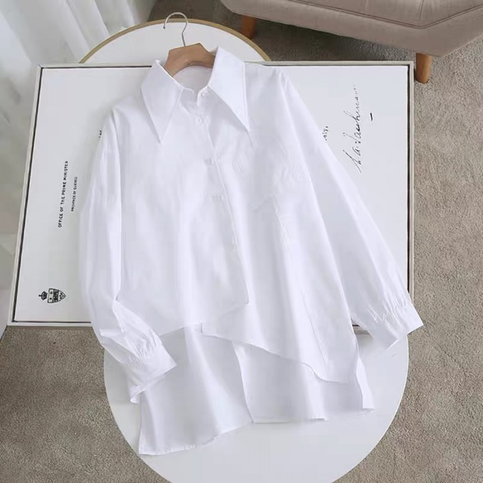 Basic Shirt with Back Slit