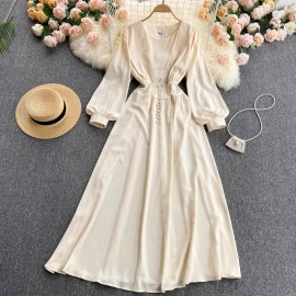 Long Bell Sleeve Dress