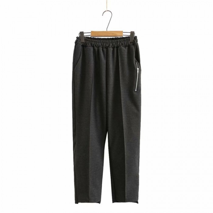 LM+ Zipper Tapered Pants