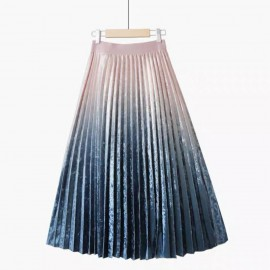Ombre Pleat Skirt