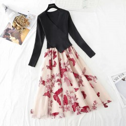 Dress with Butterfly Applique