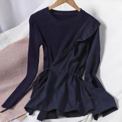 Combination Knit Top