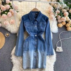 Gradient Denim Tunic
