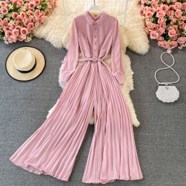 Pleated Pants Pantsuit