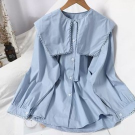 Pan Collar Blouse