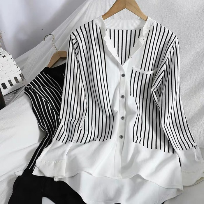 Stripe Knit Blouse
