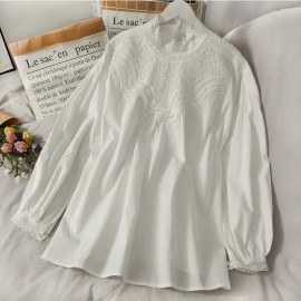 Blouse with Lace Trim