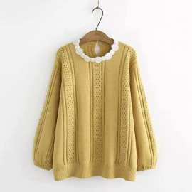 LM+ Eyelet Knit Pullover