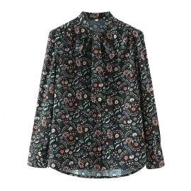Floral Scarf Blouse