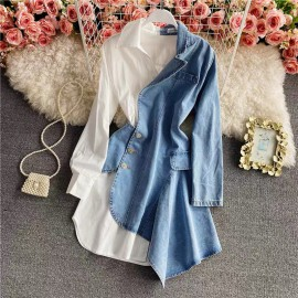 Combination Denim Tunic
