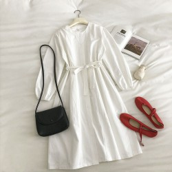 Casual Dress with Sash