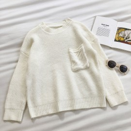 Knit Pullover with Pocket