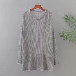 LM+ Sheer Knit Pullover