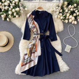 Dress with Detachable Shawl