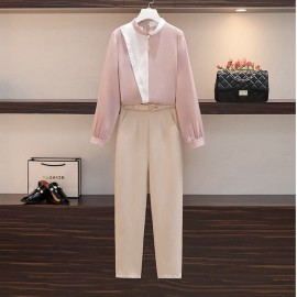 Pastel Blouse and Pants Set