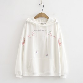 LM+ Floral Embroidered Hoodie Pullover