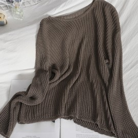 See-through Knit Pullover