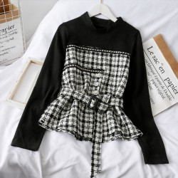 Checkered Combination Top