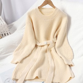 Knit Pullover with Sash
