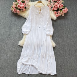 Long Embroidery Dress