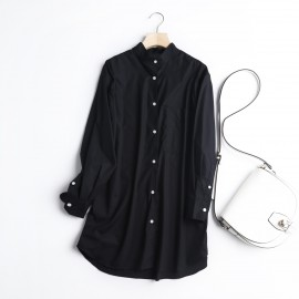 Long Mao Collar Blouse