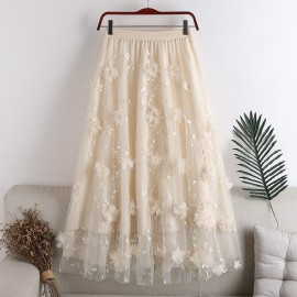 Floral Applique Tutu Skirt