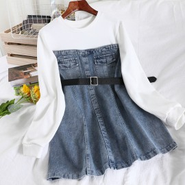 Denim Combination Tunic